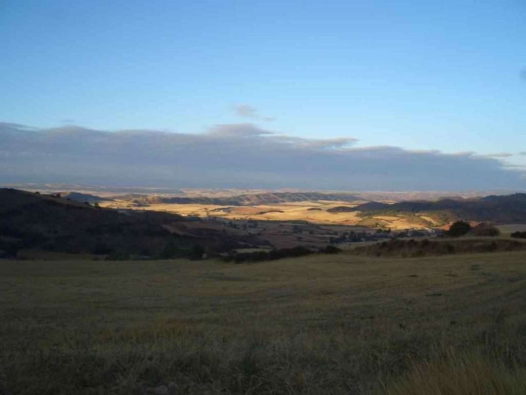 Jakobsweg, zwischen Estella und Los Arcos, Morgens im September