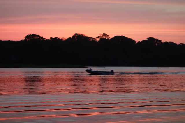 Costa Rica, Tortuguero National Park, Abendstimmung am Fluss