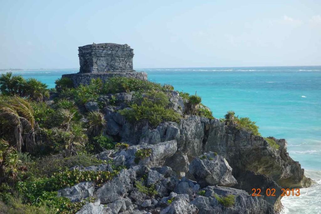 Zentralamerika, Mexico, Tulum, Strand vor der Mayastätte