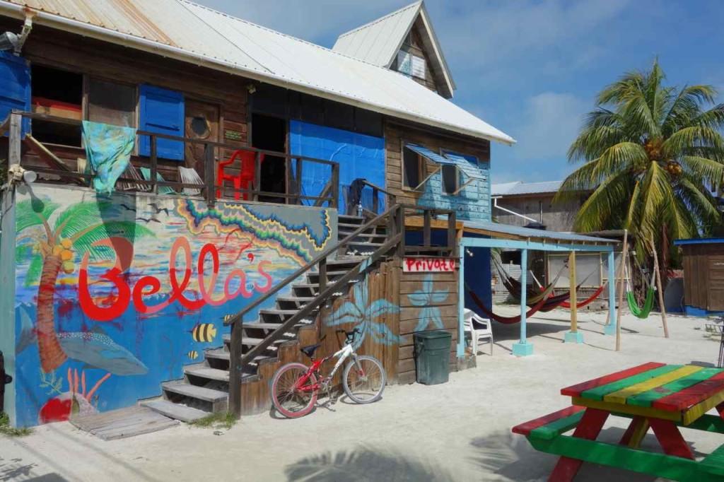 Zentralamerika, Backpacker Unterkunft auf Caye Caulker, Belize