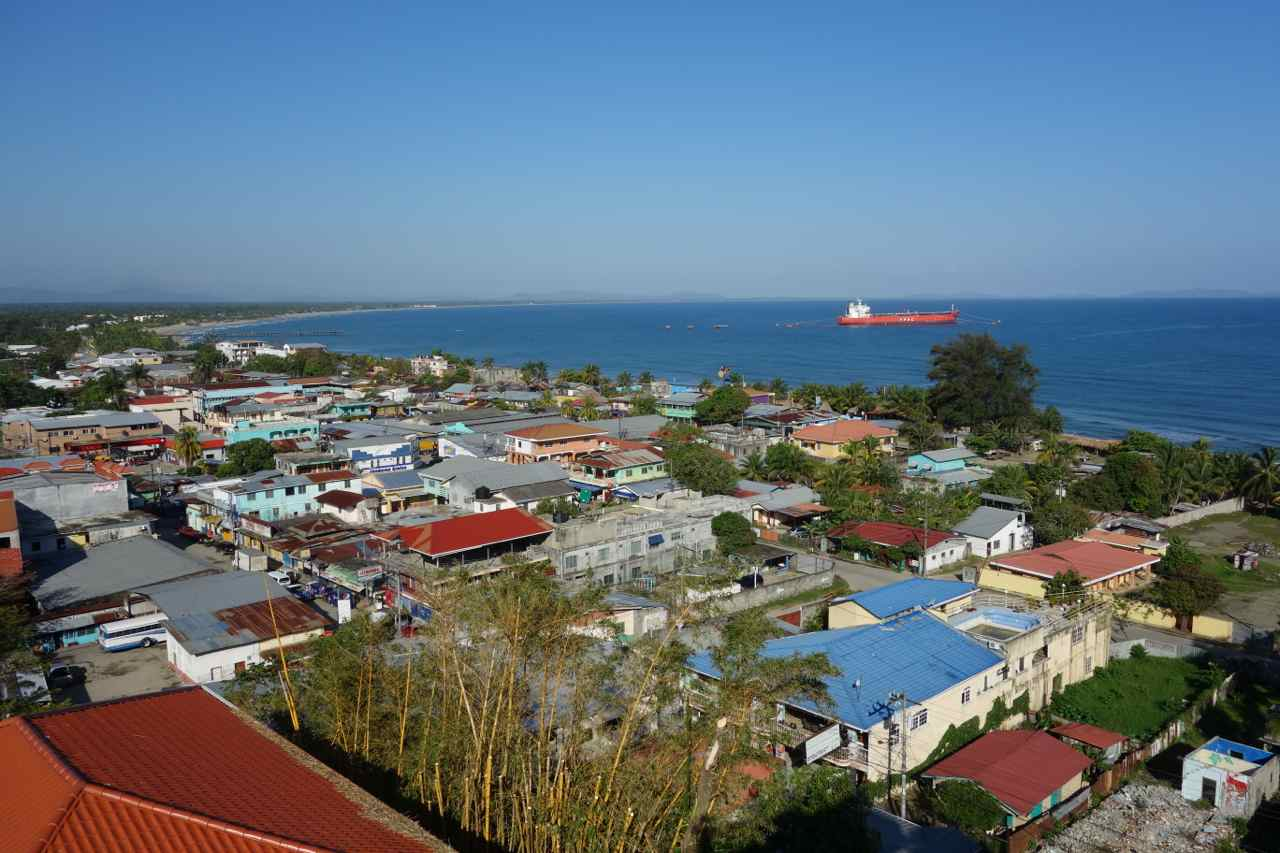 Zentralamerika, Honduras, Blick über Tela