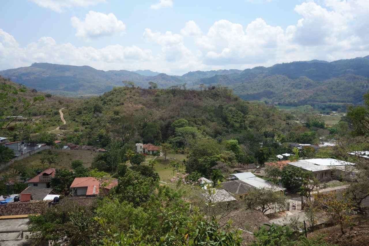 Zentralamerika, Honduras, Copán Ruinas, Blick aus meinem Fenster bei Doña Elena B&B