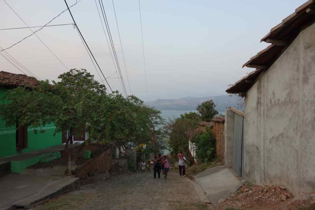 Zentralamerika, Suchitoto, auf dem Weg zur Villa Balanza, Blick zum See
