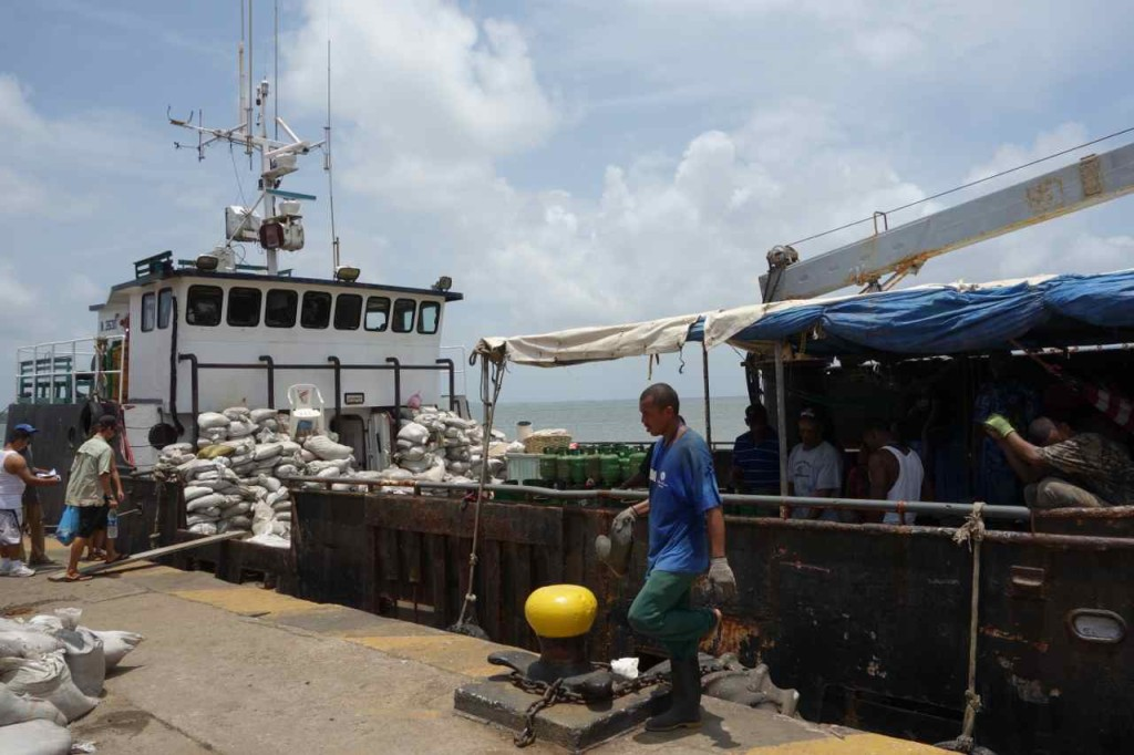 Zentralamerika, Nicaragua, Schiff von El Bluff nach Big Corn Island