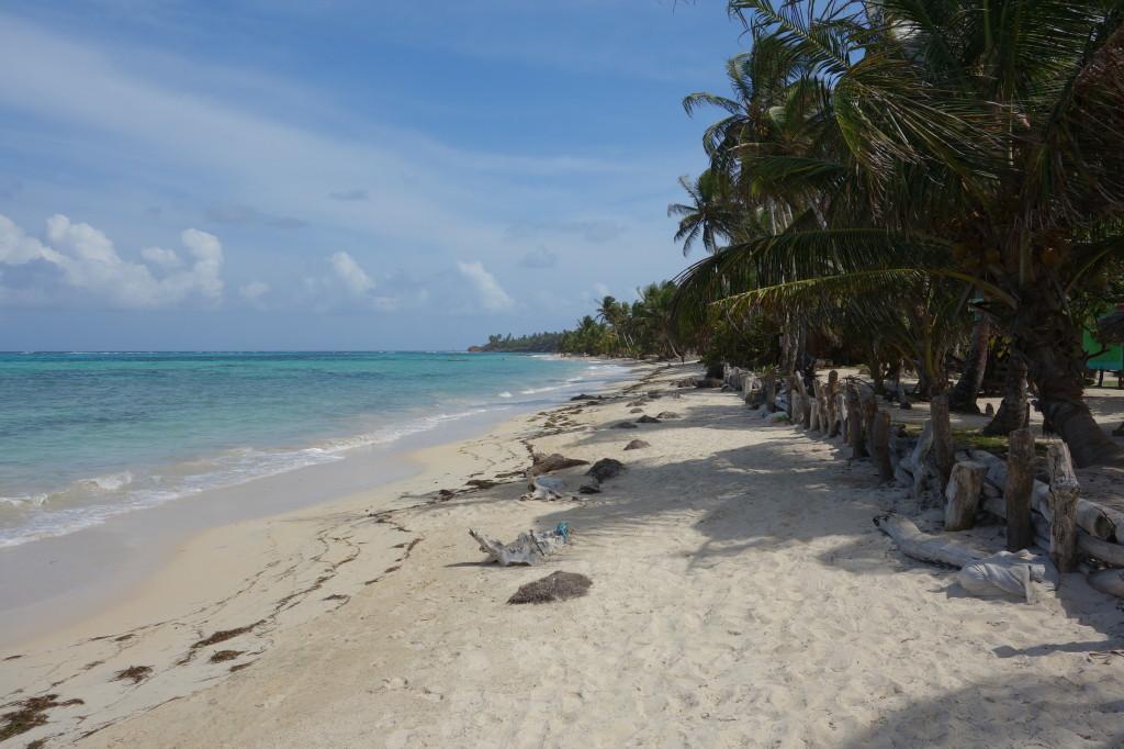 Nicaragua Corn Islands, Zentralamerika, Little Corn Island, Vor meiner Unterkunft Stedman