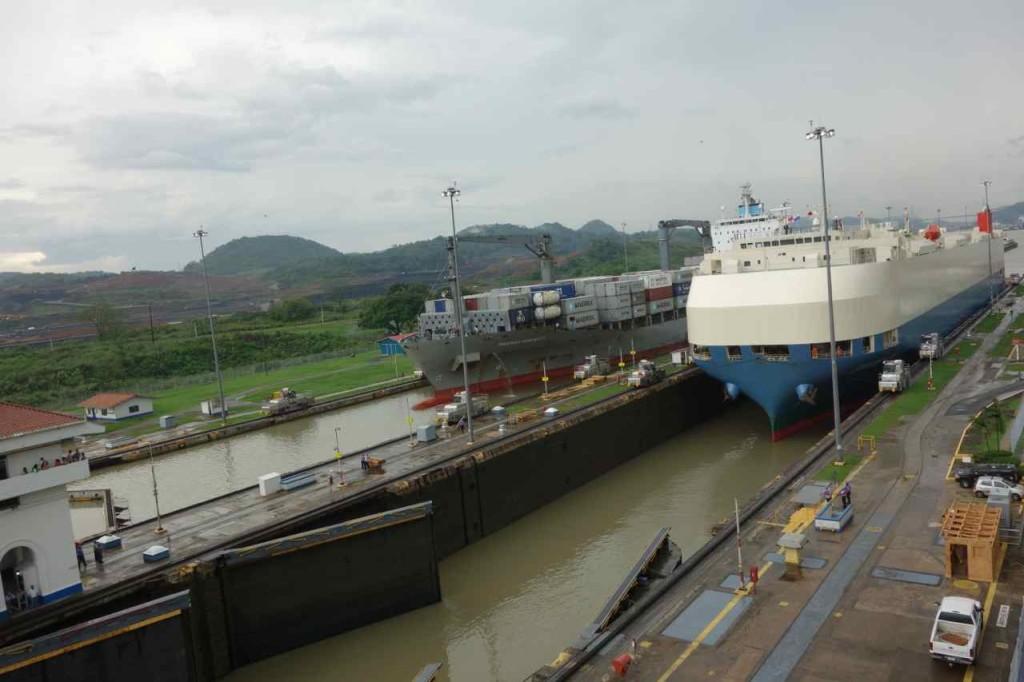 Zentralamerika, Panama, Panama Kanal, Miraflores Schleuse