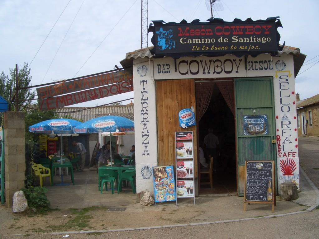 Jakobsweg, Nach Astorga: Bar Cowboy in Ganso