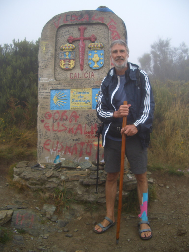 Spanien, Jakobsweg, Grenzstein zu Galicien