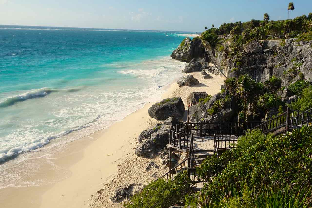 Tulum, Beach at Ruins