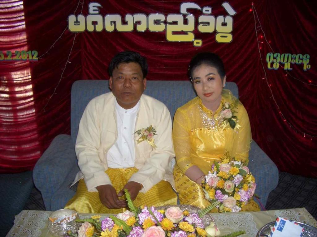Myanmar, Lake Inle, Brautpaar