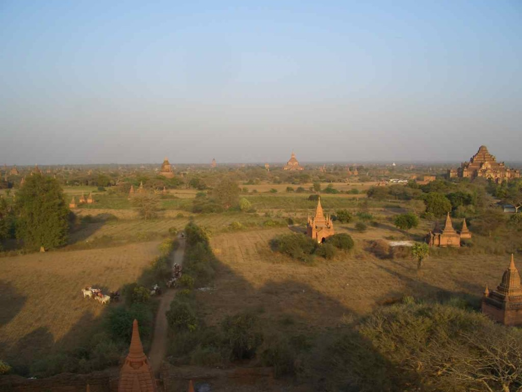 Myanmar, Bagan mit Eselskarren