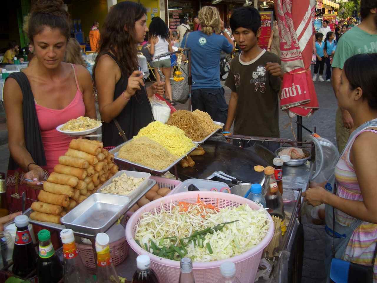 Thailand, Bangkok, Essensstand