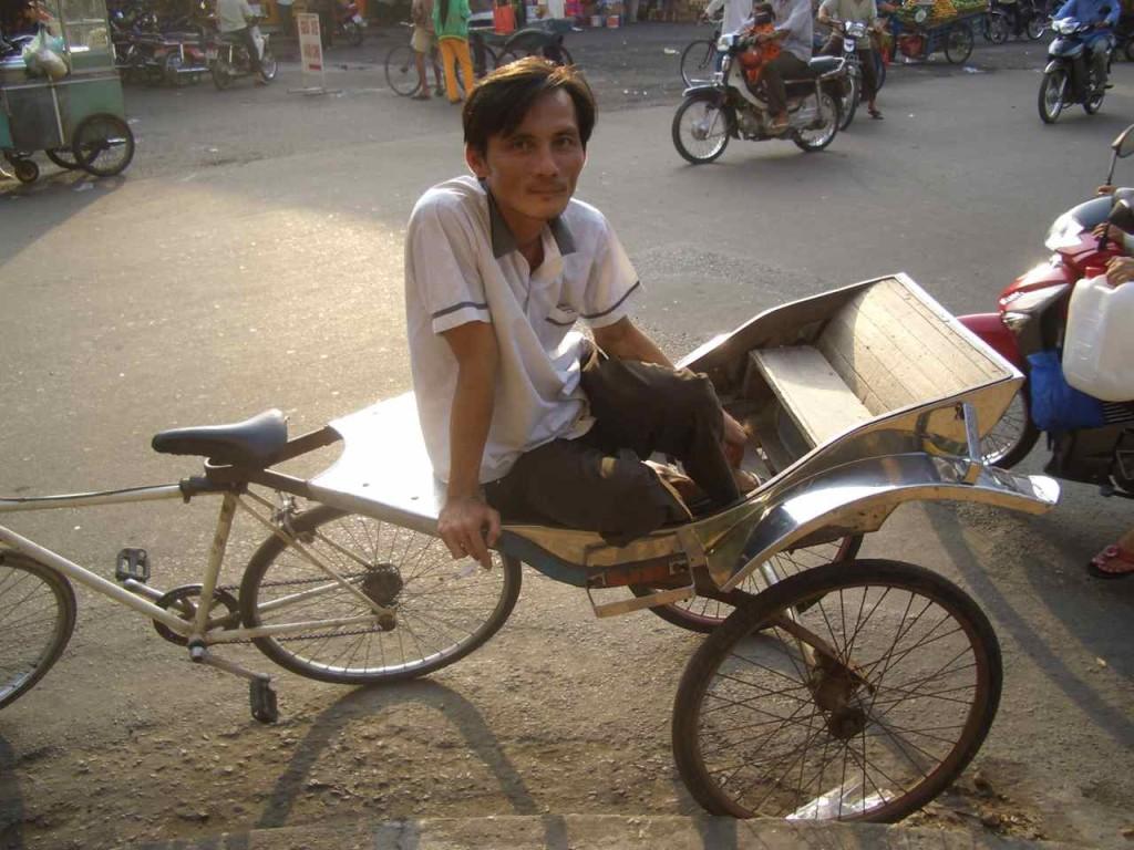 Vietnam, Rikscha-Fahrer