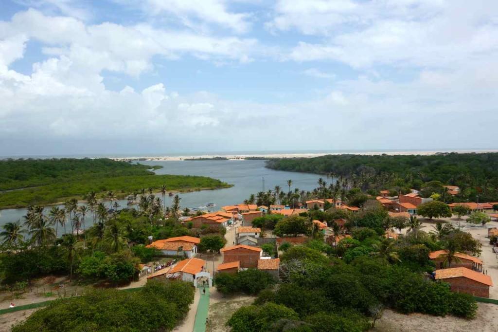 Blick vom Leuchtturm in Mandacaru zu den Lencois Maranhenses