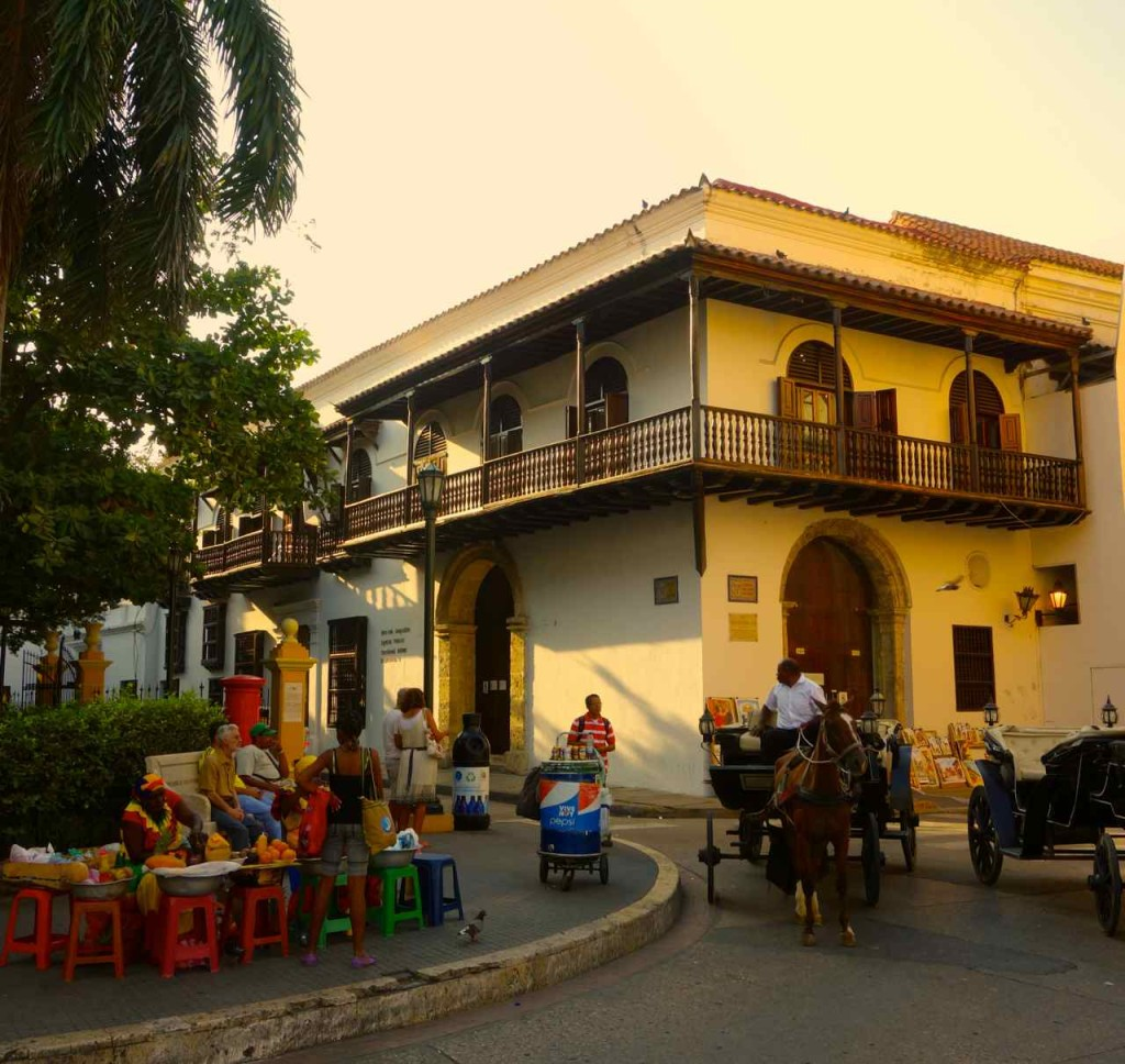 Cartagena, Herrenhaus mit Kutsche