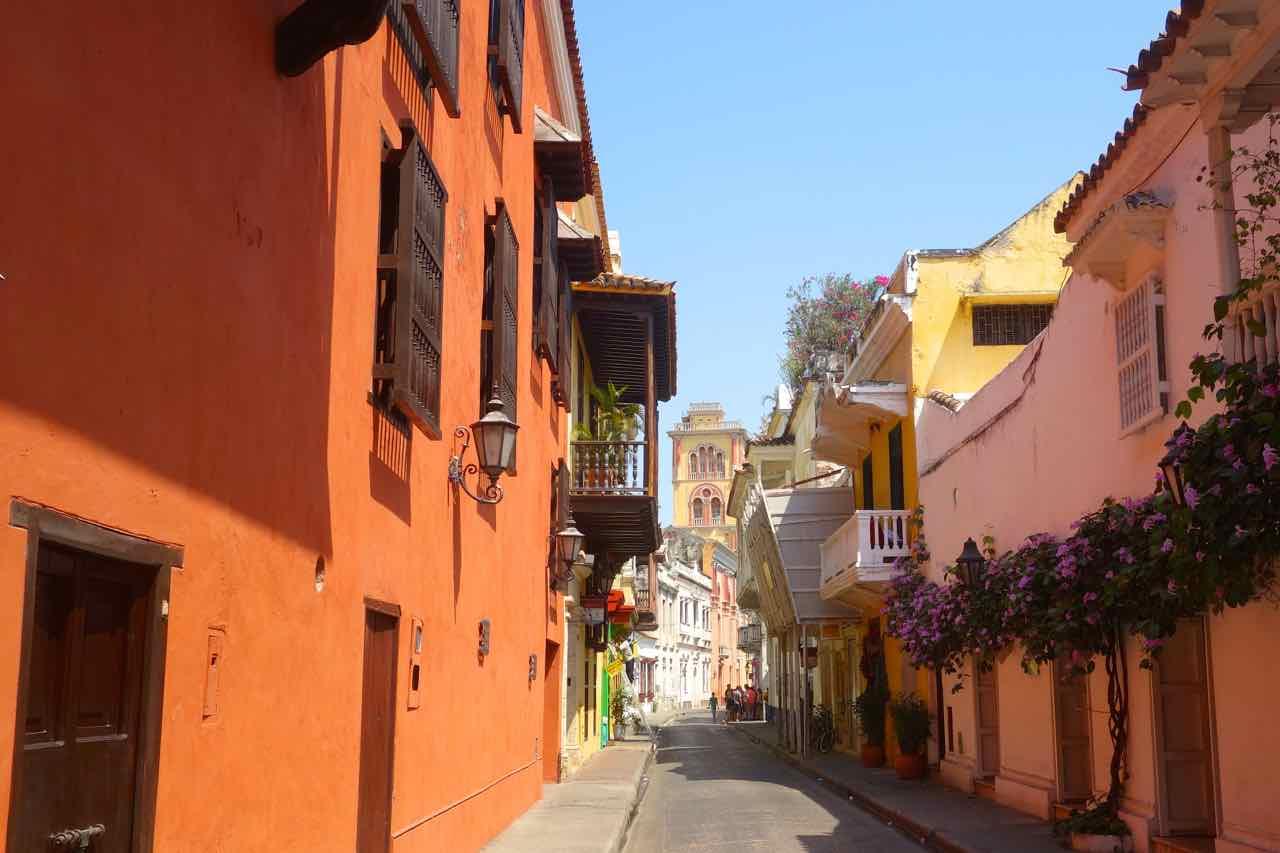 Cartagena: Straße im Centro Histórico