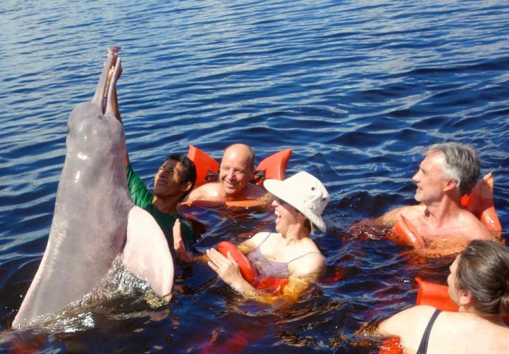 Spielen mit Delphinen….