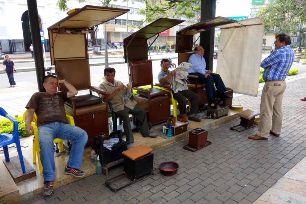 Kolumbien: Schuhputzer in Bucaramanga