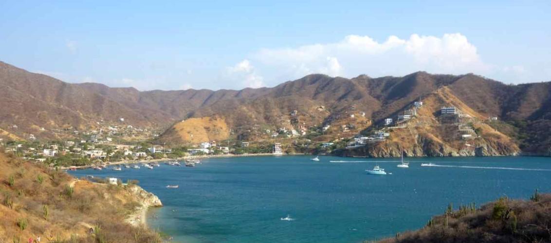Taganga, von Playa Grande kommend