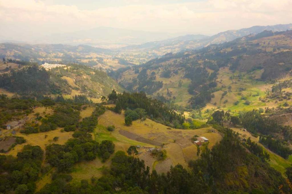 Villa de Leyva, Auf dem Weg Von Sogamoso nach Villa de Leyva