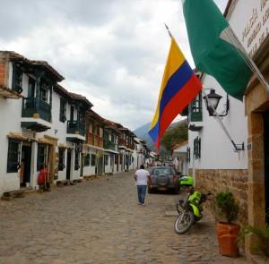 Villa de Leyva, Straße