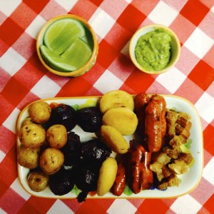 Bandeja Paisa, typisches, kolumbianisches Gericht