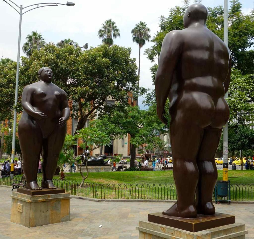 Medellin, Botero Skulptur, Paar