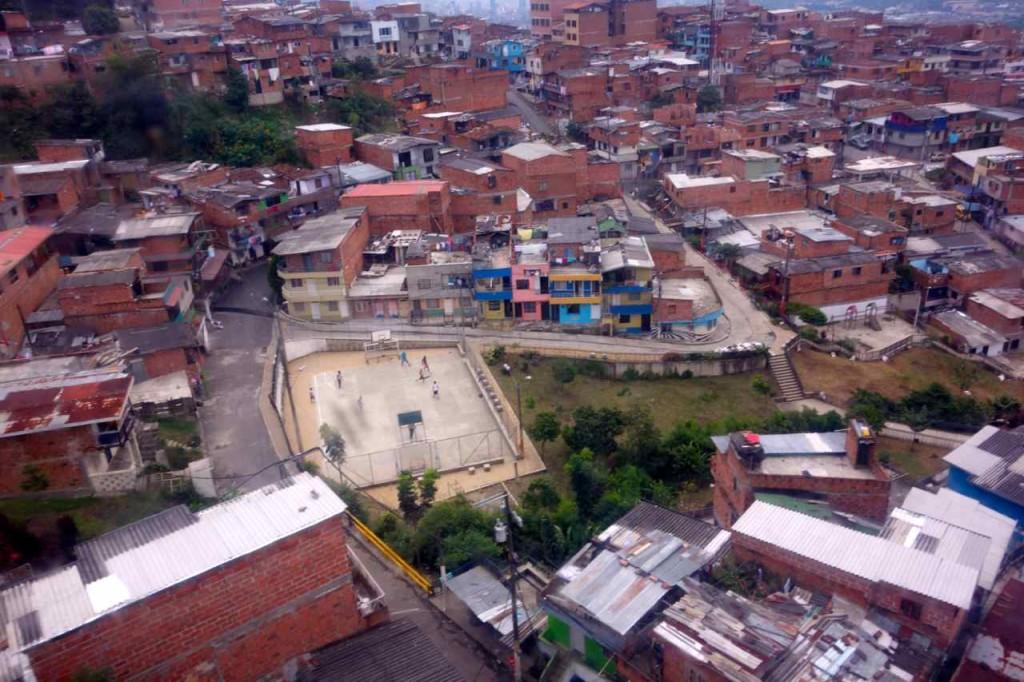Kolumbien, Medellin, Favela vom Metrocable