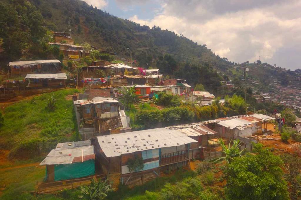 Medellin, Santo Domingo, von der Seilbahn