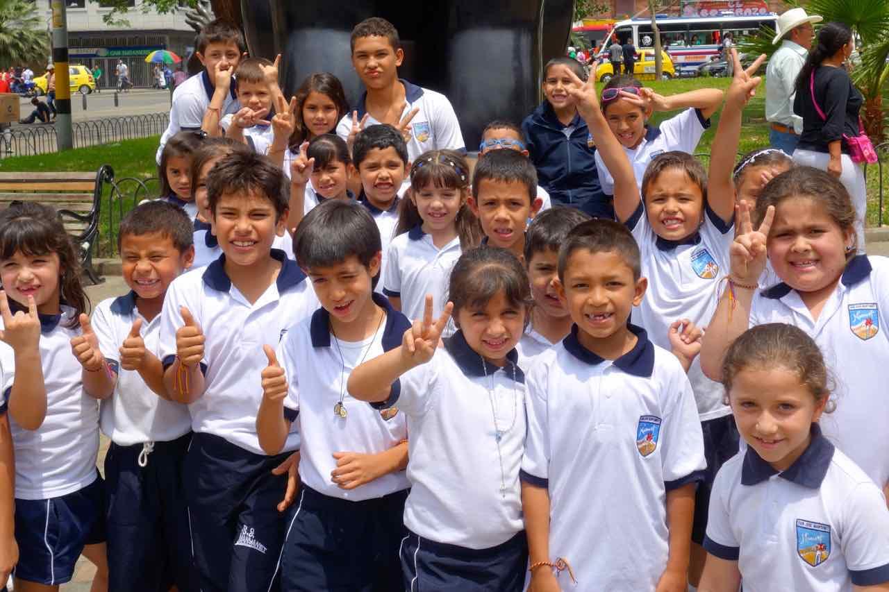 Medellin, Schulkinder