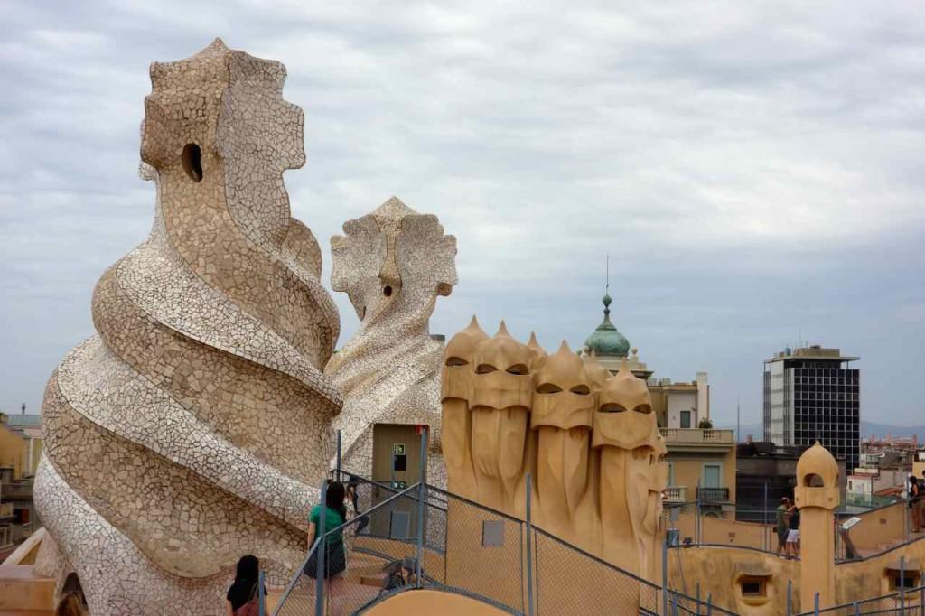 Barcelona, Casa Mila von Antoni Gaudí, Dach