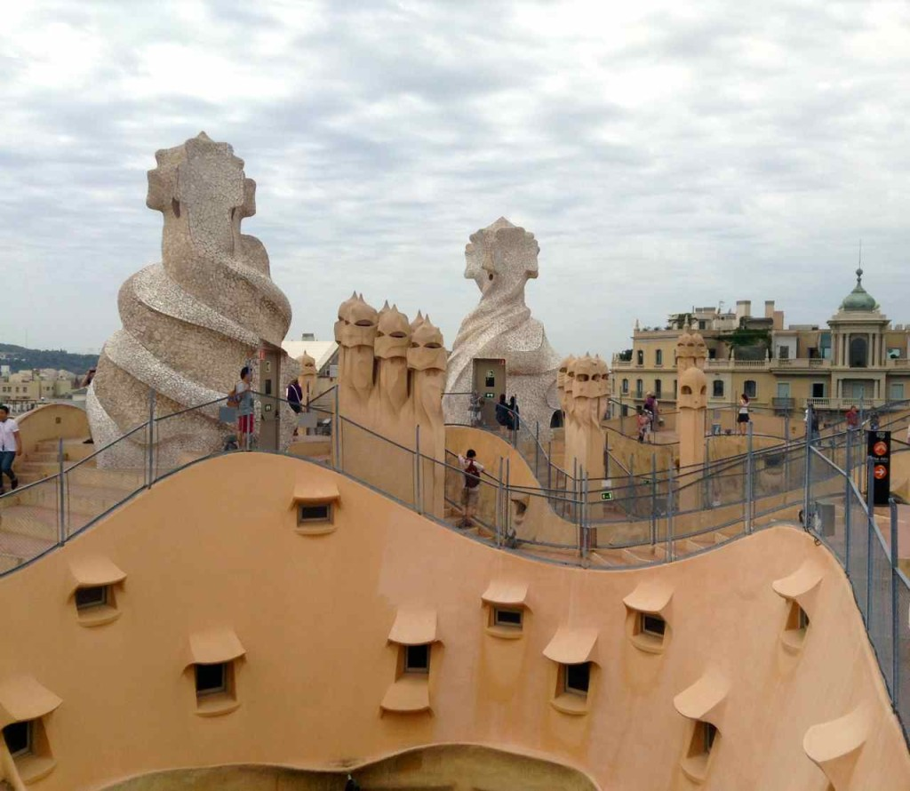 Barcelona, Casa Mila, Dach