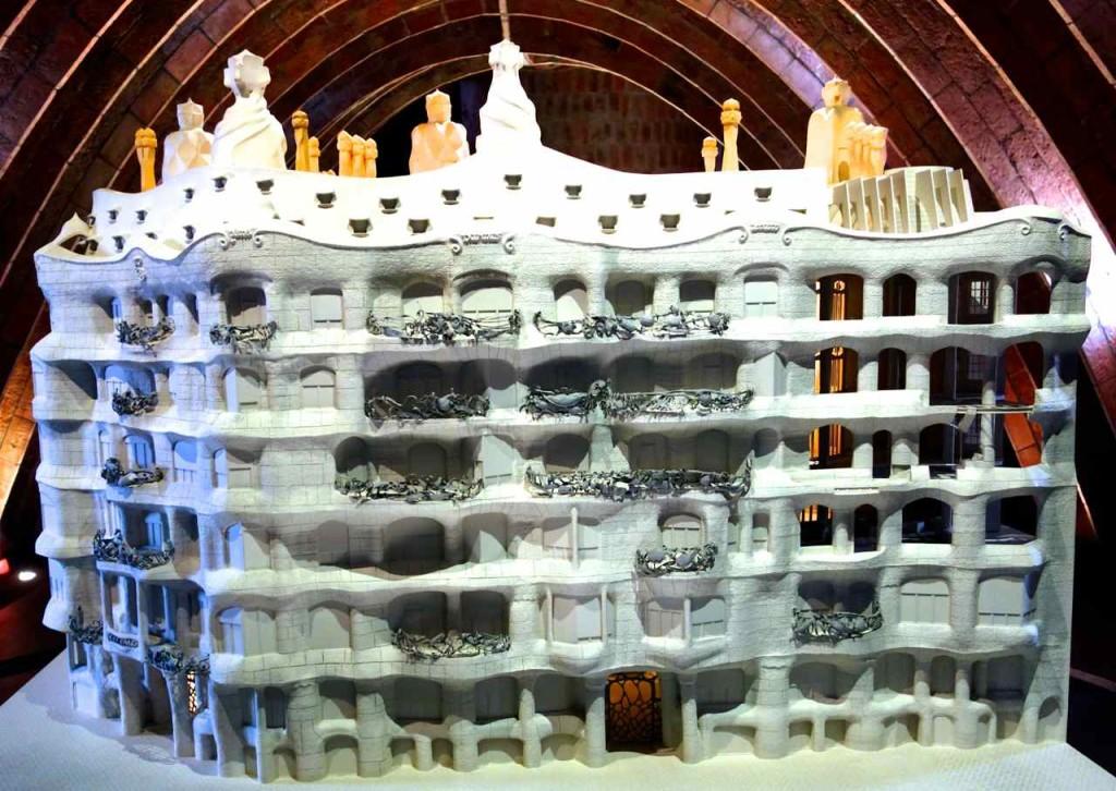 Barcelona, Casa Mila von Antoni Gaudi