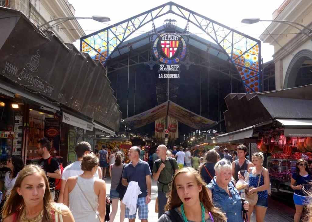 La Boqueria Markt, Eingang von der Rambla