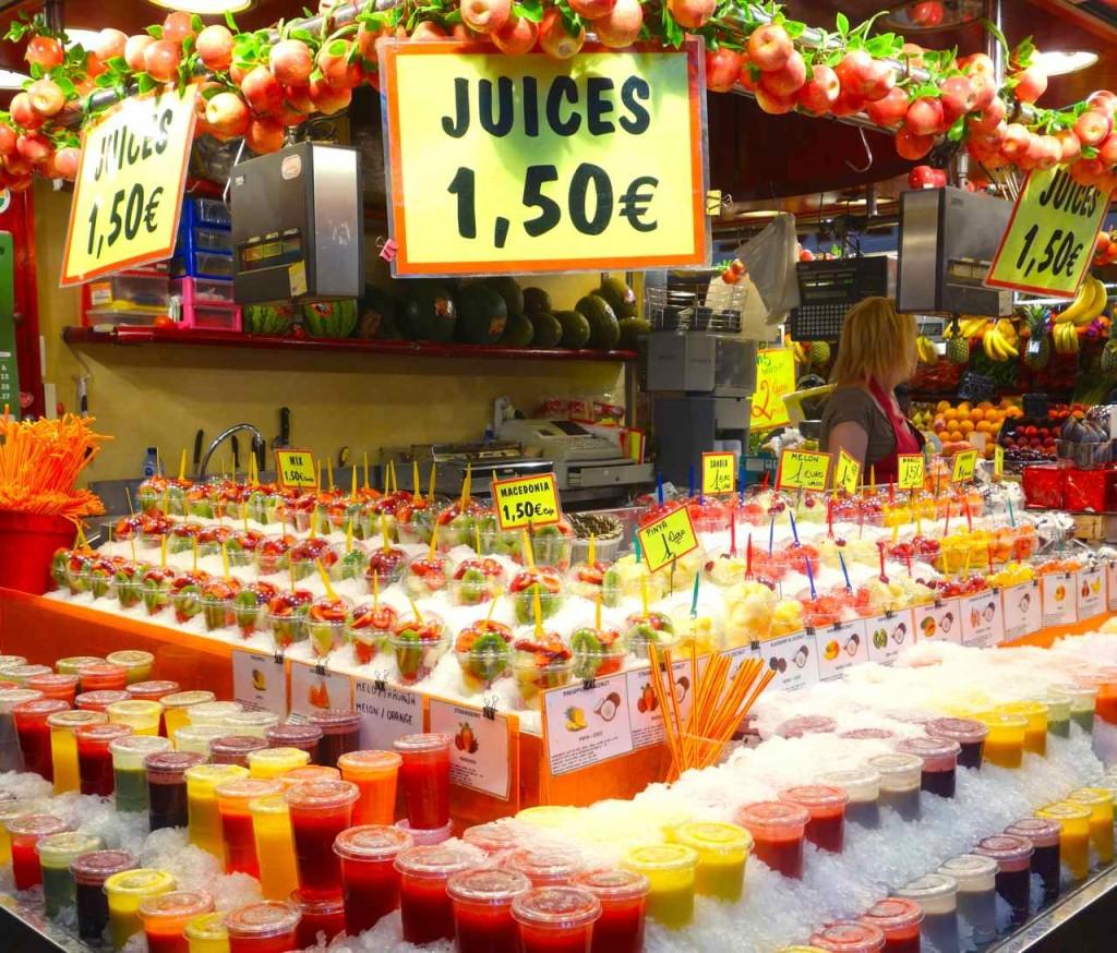 La Boqueria Markt, Barcelona, Markthalle La Boqueria