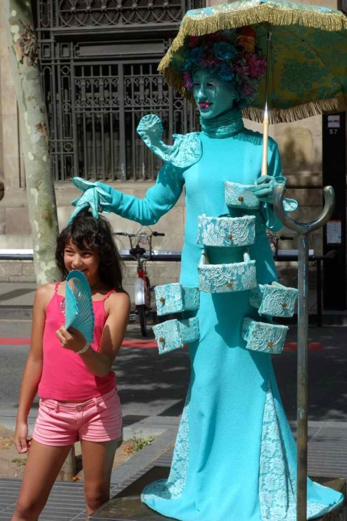 La Rambla, lebende Statue