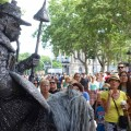 Barcelona, La Rambla, Lebende Statue