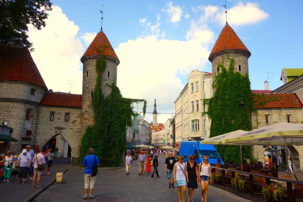 Estland Tallinn, ein Eingang zur Altstadt