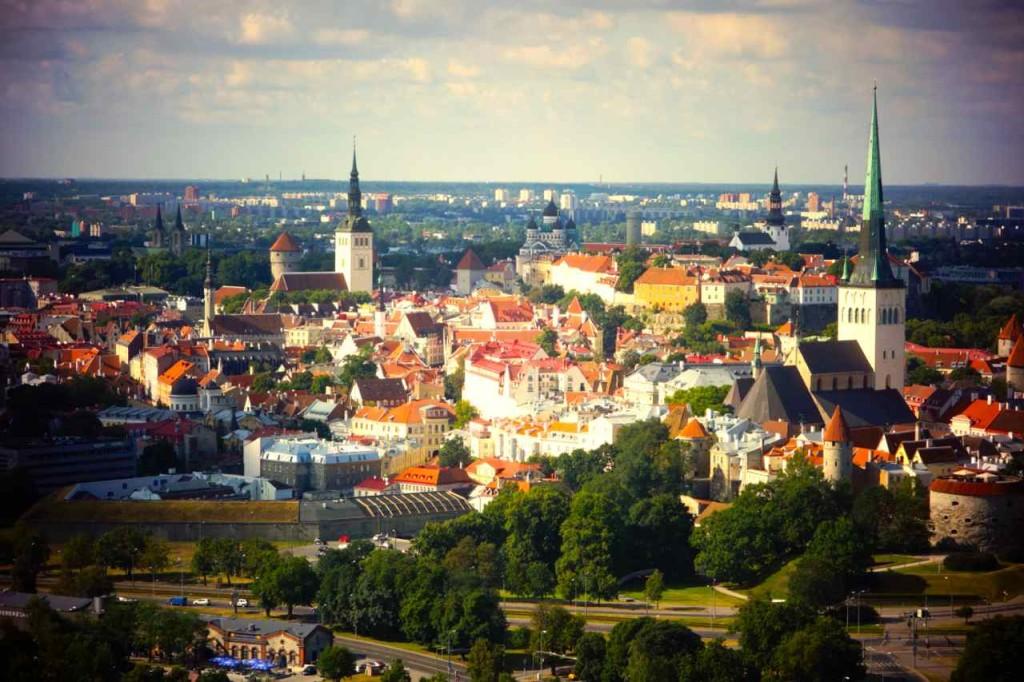 Estland, Tallinn vom Ballon