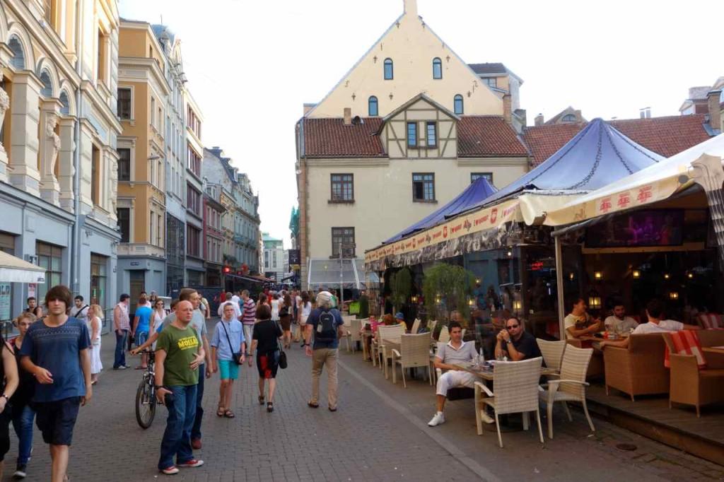 Lettland Riga, Fußgängerzone