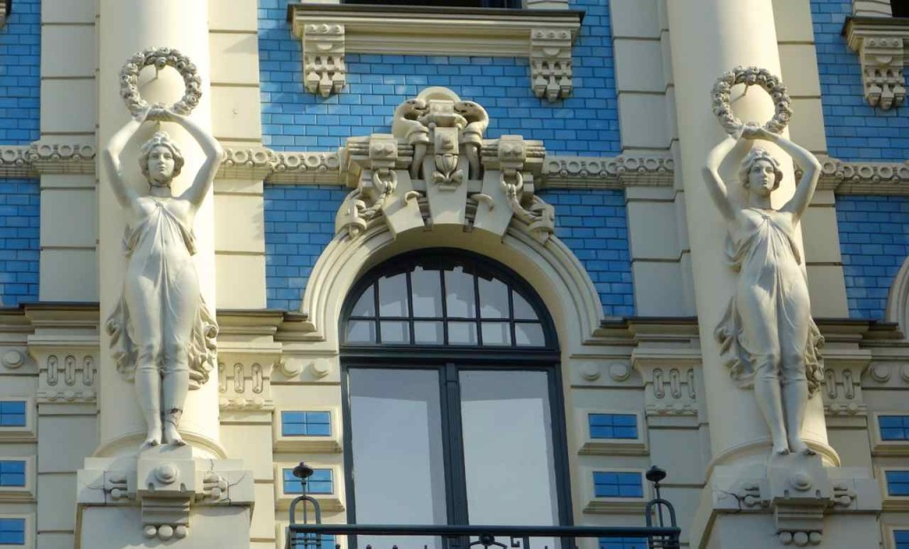 Lettland Riga Jugendstilhaus von Michael Eisenstadt