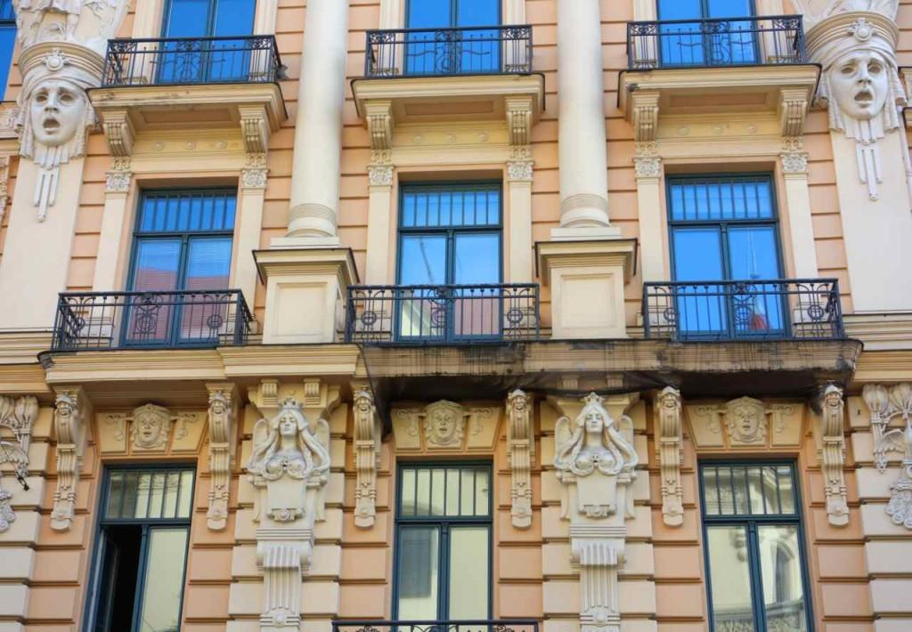 Riga, Jugendstilfassade