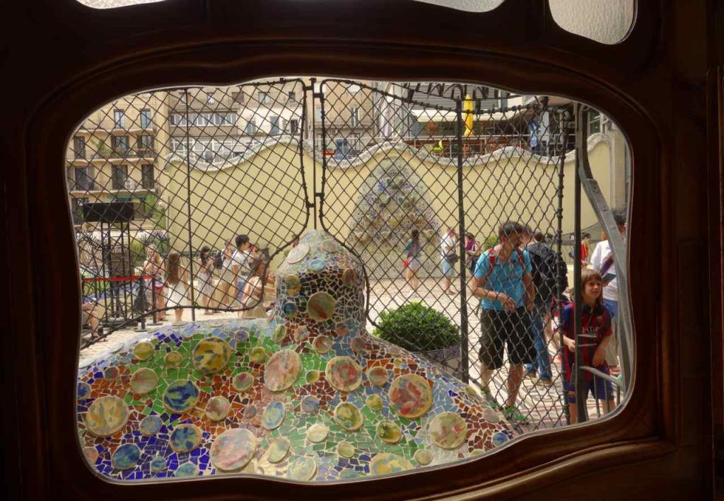 Casa Battlo Barcelona, Blick zur Terrasse