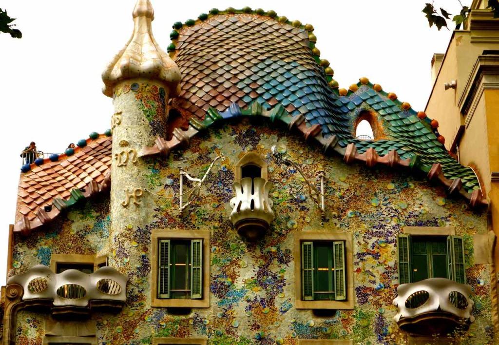 Casa Battlo Barcelona, Fassade