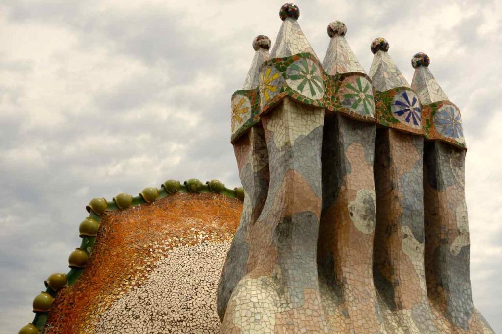 Casa Battlo Barcelona, Dach