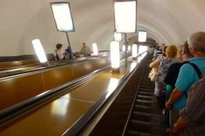 Russland, St. Petersburg, Metro