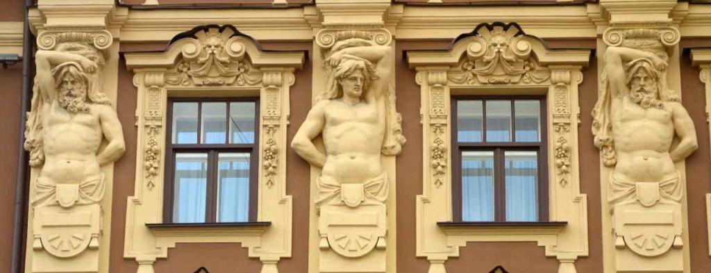 Russland, St. Petersburg Sehenswürdigkeiten, Jugendstilfassade