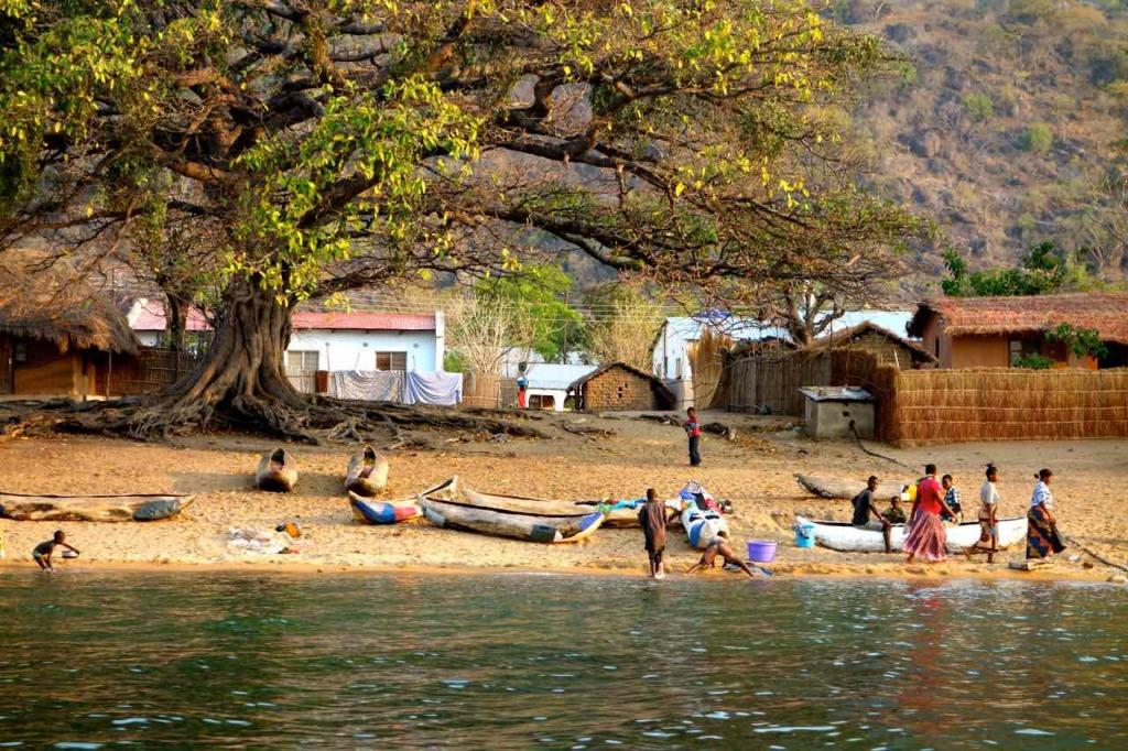Malawi, Capa Maclear.vom Meer, abends
