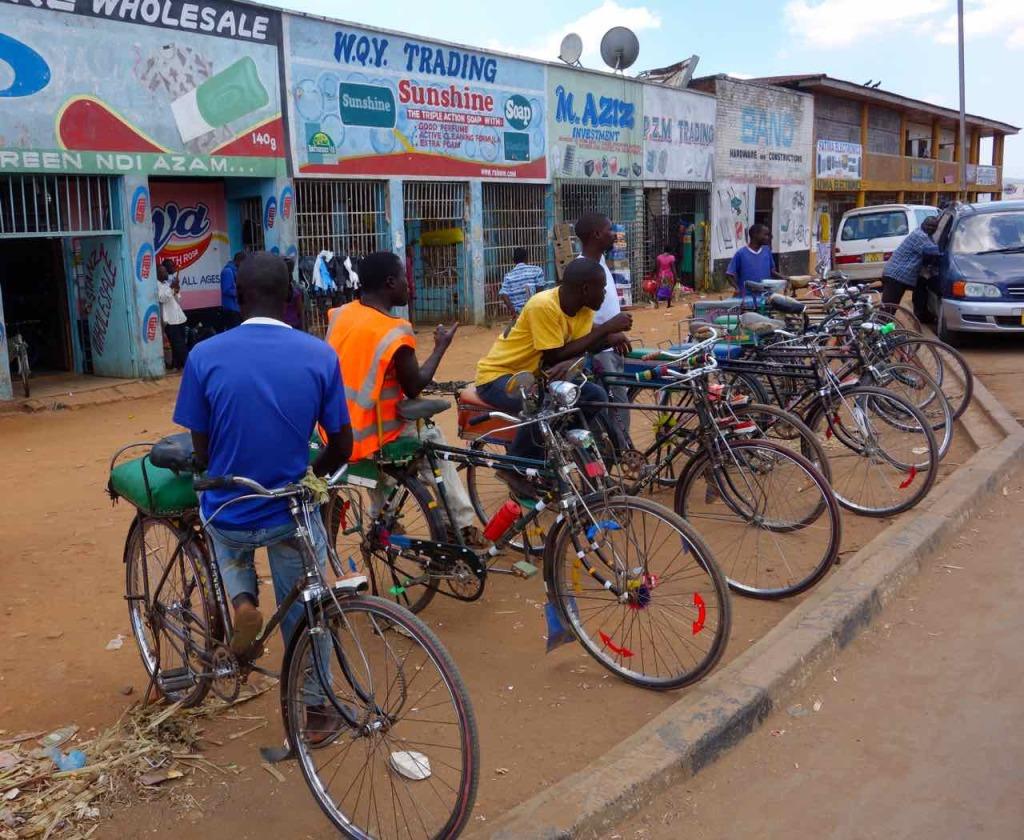 Malawi. Mzuzu, Fahrradtaxis