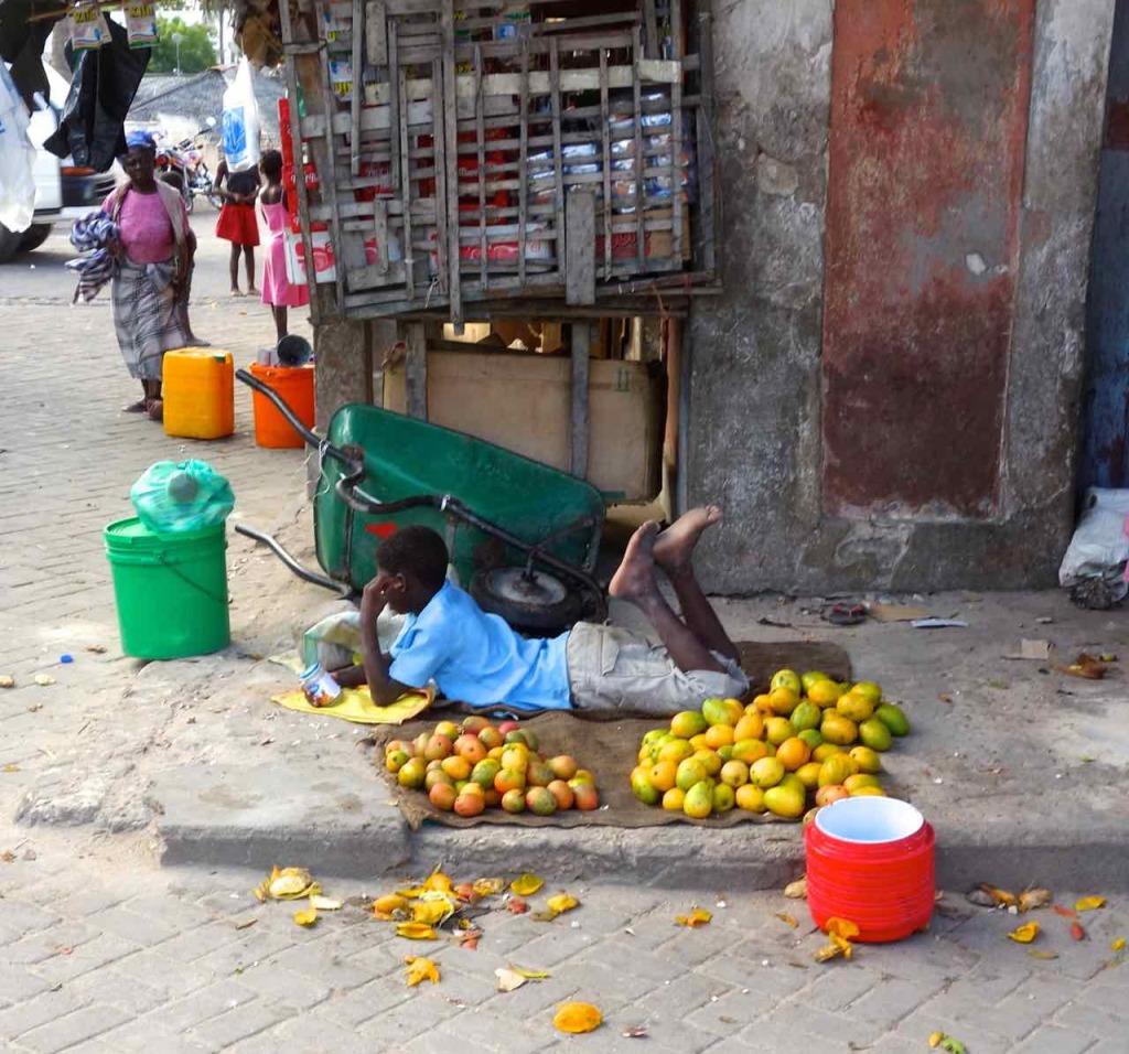 Obsthändler in Mosambik